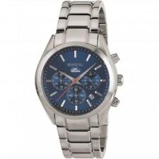 Mens Watch BREIL MANTA CITY TW1605 Chrono Steel Bracelet Blue Sub 100mt
