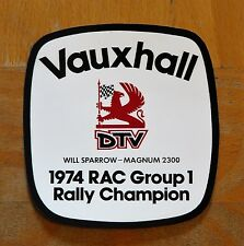 Vauxhall DTV 1974 RAC Group 1 Rally Champion Magnum Motorsport Sticker / Decal