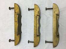 Cabinet Finger Pull Hammered Plated Finish Stanley Vtg COPPER Drop RING Drawer