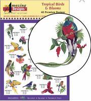 Amazing Designs Tropical Birds & Blooms 40 Premium Designs ADP-86 Brand New Seal