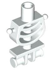 Lego Skeleton Minifig Torso x 1 White Skeleton Body with Ball Joints