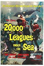 20000 LEGHE SOTTO I MARI LEAGUES UNDER THE SEA MANIFESTO WALT DISNEY DOUGLAS