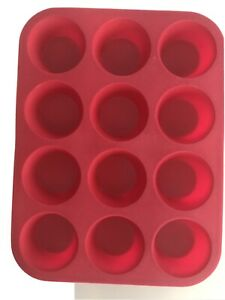 12 Cups Silicone Muffin Cupcake Pan Non Stick Cupcake Microwave Mold Kitchen