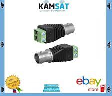 CCTV Camera TV Video Balun BNC Female Cable Connector Adapter