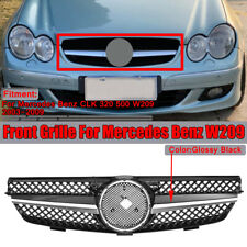 1 Fin Front Grill Grille For Mercedes Benz W209 CLK Class CLK320 CLK500