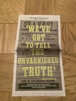 New York Times - The 1619 Project Newspaper Section Slavery Black Lives Matter
