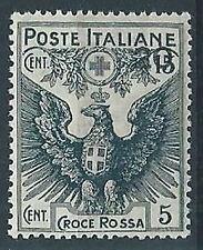 1915-18 REGNO PRO CROCE ROSSA 20 SU 15 + 5 CENT MNH ** - T250-2