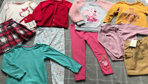 Girls Bundle Of Autumn Clothes Age 3-4 Years Skirts Tops Leggings Peppa Pig