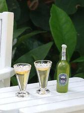Miniature Dollhouse FAIRY GARDEN ~ Bottle Of Beer & 2 Glasses ~ NEW