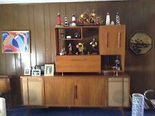 Vintage Mid-Century Bogen Stereo Console Credenza Cabinet AM/FM Turntable Bar