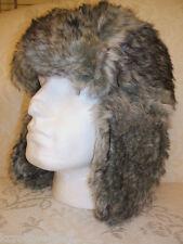 Bnwt Primark Da Uomo Grigio Finta Pelliccia Imbottito ESCHIMESE COSSACK sci  inverno russo cappello c079e0d75b10