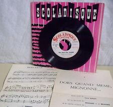 AUBANEL 45T DORS QUAND MEME MIGNONNE Mozart Schubert Brahms SCOLADISQUE N° 2071
