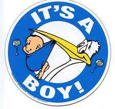 IT'S A BOY Car Ribbon Magnet baby shower funny newborn
