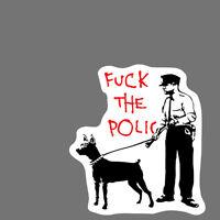 Banksy Sticker Decal vinyl graffiti street art stencil car police cop rat obey