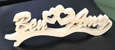 wood personalised name boyfriend girlfriend love birthday valentine gift present