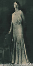 Eleanor Roosevelt In Her Inaugural Gown Ball - 1933