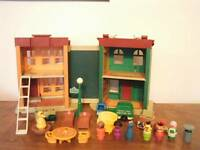 Fisher Price Little People Vintage Sesame Street #938 Apartment/House 1974