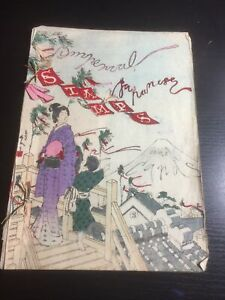 Japan Stamp Album Hand Painted Rice Paper Imperial Stamps And Covers. A One Of