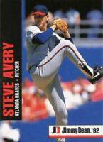 1992 Jimmy Dean Baseball #5 Steve Avery Atlanta Braves