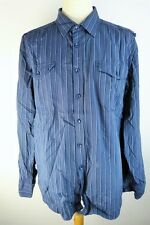 KANGOL Chemise  Taille XXL  - Manches longues - Bleue