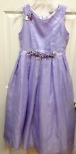 Lilac Flower Girl EASTER SPRING Dress 14 CHIFFON GOWN Formal Roses BISCOTTI USA