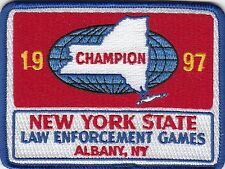 NEW YORK STATE LAW ENFORCEMENT GAMES 1997 POLICE PATCH ALBANY NY