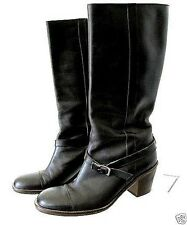 Barneys Pristine Robert CLERGERIE black tall mid calf gen leather boots 7 $595+