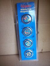 Disneyland Disney California Adventure Route 66 4 Piece Bottle Cap Magnet Set