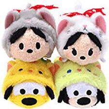 Disney Store TSUM TSUM Mini (S) Cat Costume Series set Mickey Minnie Plush Doll