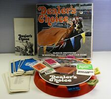 Vintage 1972 DEALER'S CHOICE Used Car Board Game Parker Brothers COMPLETE