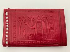 Handcrafted Moroccan Goat Leather Wallet Purse Pocket Sized Handbag Wallet