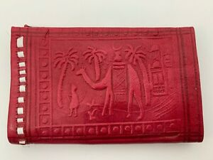 Handcrafted Moroccan Goat Leather Wallet Purse Pocket Sized Handbag Wallet