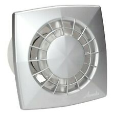 Satin Modern Bathroom Extractor Fan 125mm with Timer and Humidity Sensor