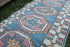"""Vintage Handmade Turkish Oushak  Runner Rug Carpet 9'8""""x2'10"""""""