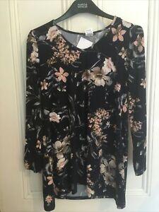 Kim & Co Long Sleeve V-Neck Tunic Size small BNWOT