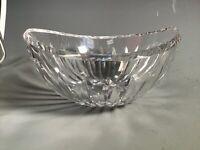 """Waterford Gothic Mark Crystal Elliptical Modern Bowl 8"""""""