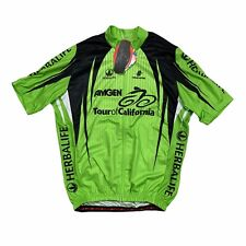 2010 Hincapie Amgen Tour of California Herbalife Zip Cycling Jersey Men's XL