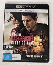 JACK REACHER: Never Go Back 4K ULTRA HD + BLU-RAY oz seller Tom Cruise UHD DVD