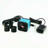 14MP HDMI Microscope Digital Camera TF Video Recorder Eyepiece C Mount Adapter