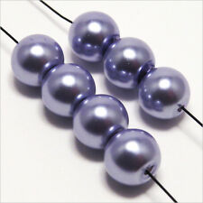 30 pearls Pearly 8mm Lilac light mirror of Bohemian