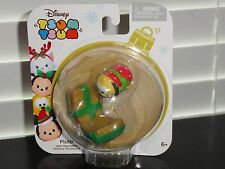 DISNEY TSUM TSUM 2016 CHRISTMAS PLUTO WITH STACKABLE HOLIDAY ACCESSORY