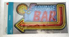 Lounge Bar Wall Sticker ~ 8 x 15 inch ~ Peel and Stick ~ Decor