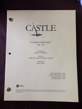"CASTLE TV Series Script ""A Death In The Family"" EPISODE NATHAN FILLION 2/19/09"