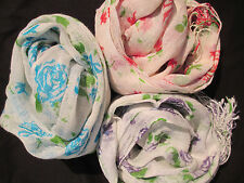 Cotton Blend Scarf Floral Scarves & Shawls for Women