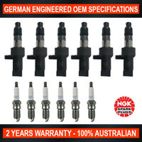 6x Genuine NGK Platinum Spark Plugs & 6x Ignition Coils for Jaguar X-Type x400