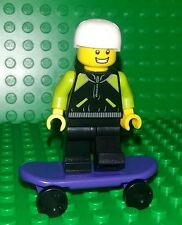 *NEW* Lego Skateboard Kid Boy Dude Minifig Figure Fig w Purple Skateboard x 1
