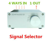 Audio Signal Switcher Selector Box Lossless Stereo HIFI 4 INPUT Signal Splitter