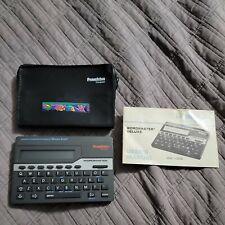 Franklin Vintage Computer Merriam-Webster Wordmaster Deluxe Model Wm-1055 1989
