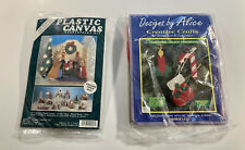 Traditional Holiday Ornaments Lot Of 2 Kits Designs by Alice & Plastic Canvas