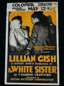 THE WHITE SISTER 1923 * LILLIAN GISH * RONALD COLMAN * RARE MOVIE POSTER * L@@K!